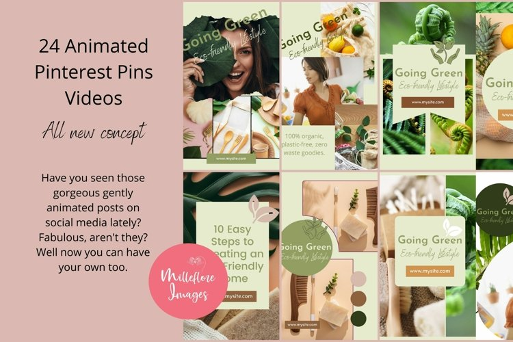 24 Animated Pinterest Pins Videos Canva Templates Bundle