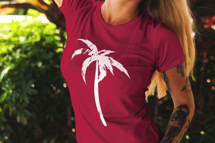 Grunge palm svg example image 1