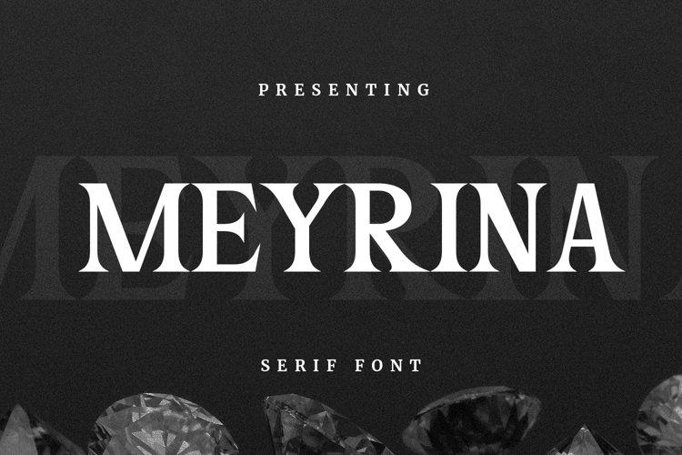 Meyrina Font example image 1