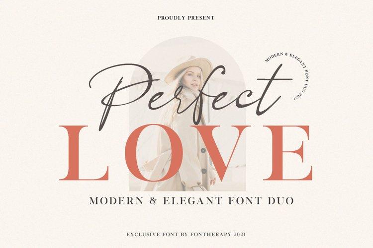 Perfect Love Elegant Modern Font Duo example image 1