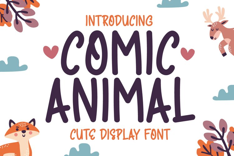 Comic Animal - Cute Display Font example image 1