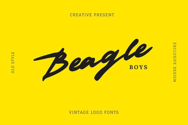 Beagleboys Font example image 1