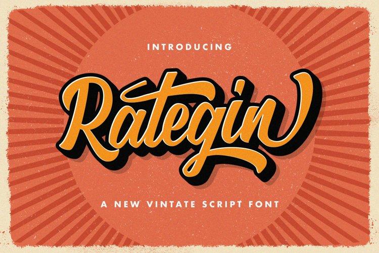 Rategin - Vintage Script Font example image 1