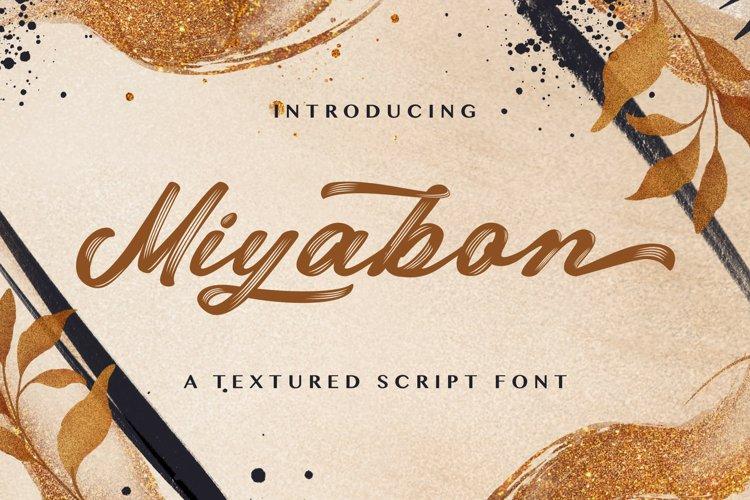 Miyabon - Textured Brush Font example image 1