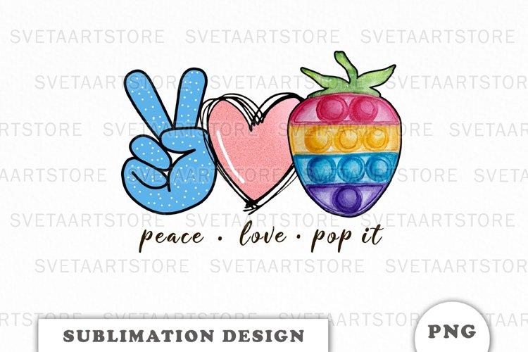 Peace Love Pop it sublimation designs downloads