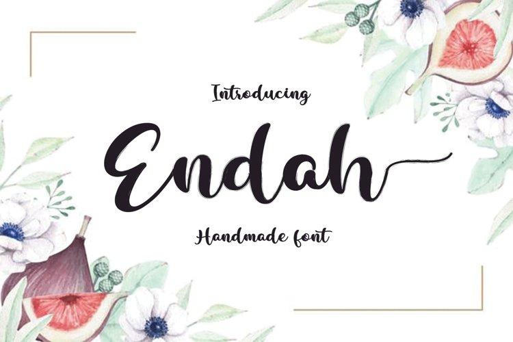 Endah Script Brush example image 1