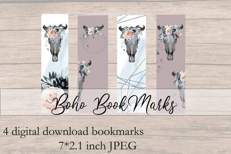 Watercolor BOHO Printable bookmarks