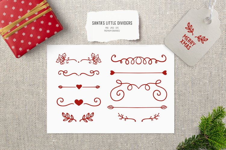 Vintage Christmas divider and border clipart