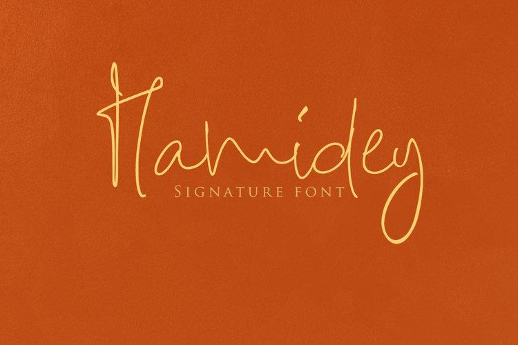 Hamidey Signature Font example image 1