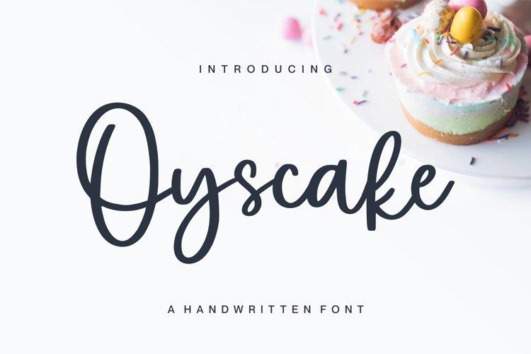 Web Font - Oyscake example image 1