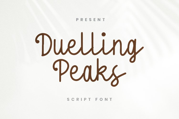 Dueling Peaks Font example image 1