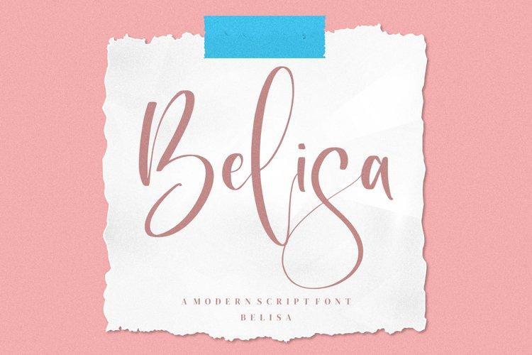 Belisa - Modern Script Font example image 1