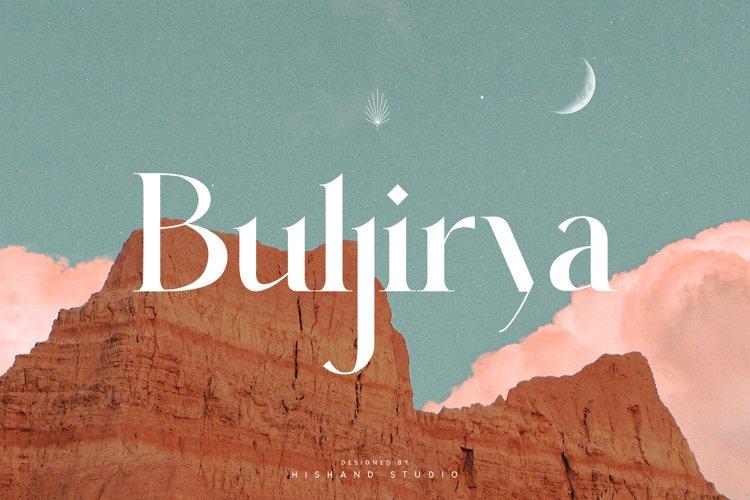 Buljirya Modern Serif Typeface example image 1