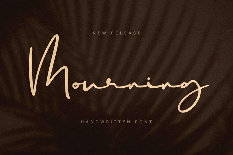 Mourning - a Handwritten Font