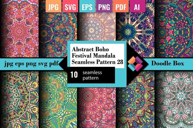 Abstract Boho Festival Mandala Seamless Pattern vol.28