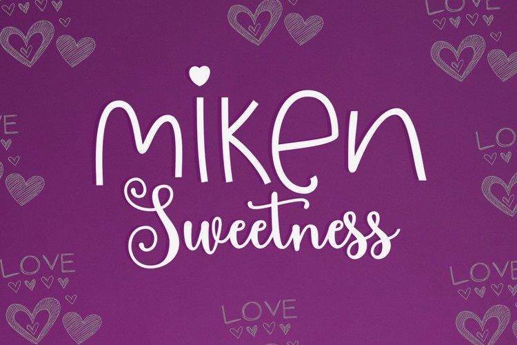 Miken Sweetness Duo font duo example image 1