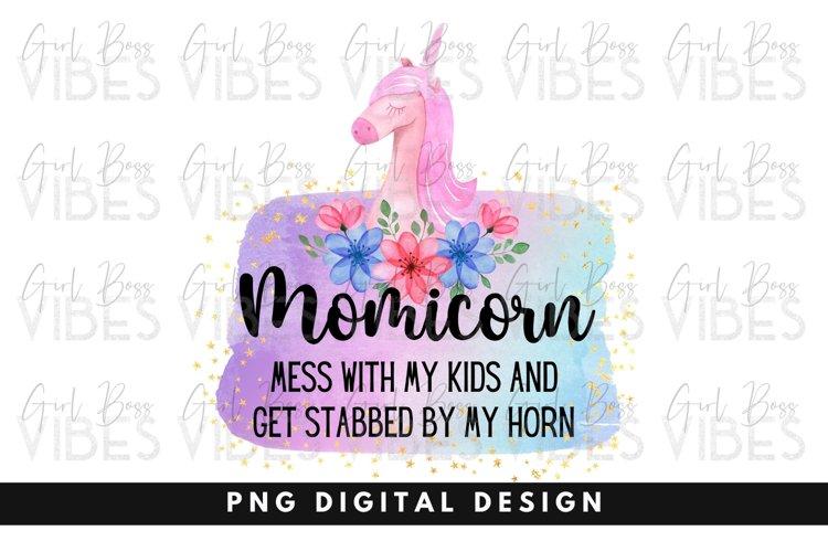 Unicorn PNG, Funny Mom Clipart, Sublimation Unicorn Design
