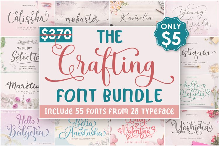 The Crafting Font Bundle example image 1