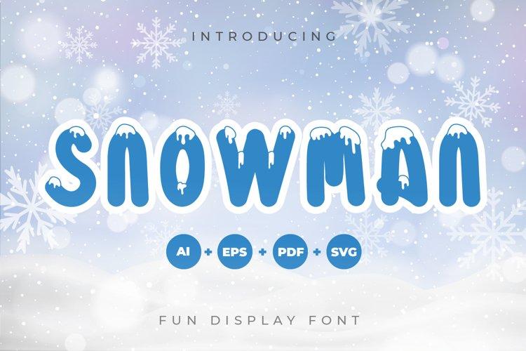 Snowman - Fun Display Font example image 1