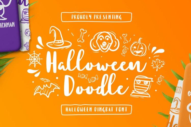 HalloweenDoodle Font example image 1