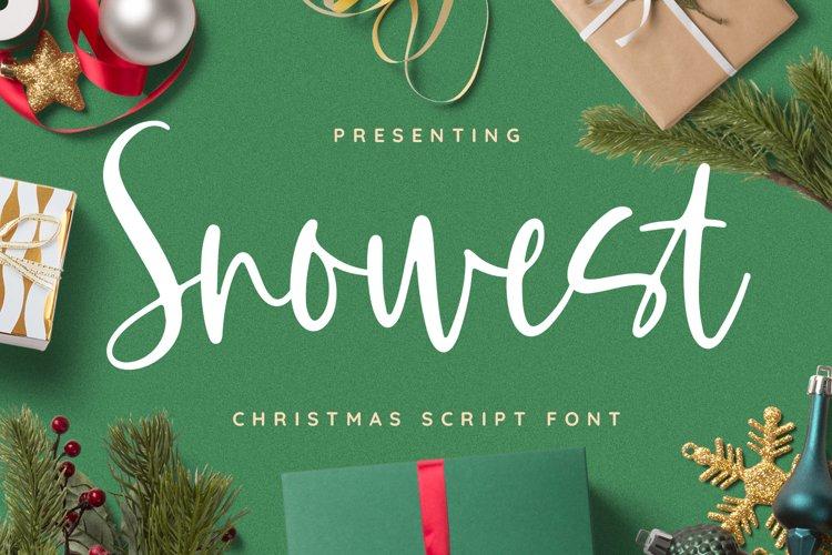 Snowest Font example image 1
