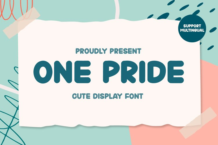 One Pride - Cute Display Font example image 1