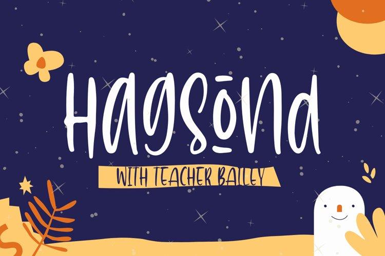 Hagsond Font example image 1