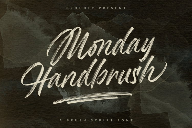 Monday Handbrush - A Brush Script Font example image 1