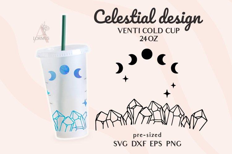Crystal svg, Venti Cold Cup svg, Celestial svg, Zodiac svg