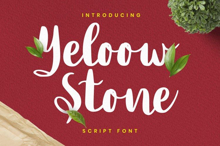 Yeloow Stone Font example image 1