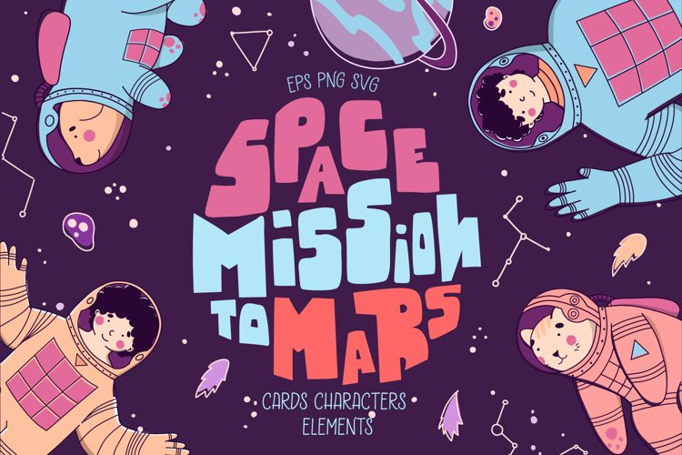 Space Mission to mars - space travel.