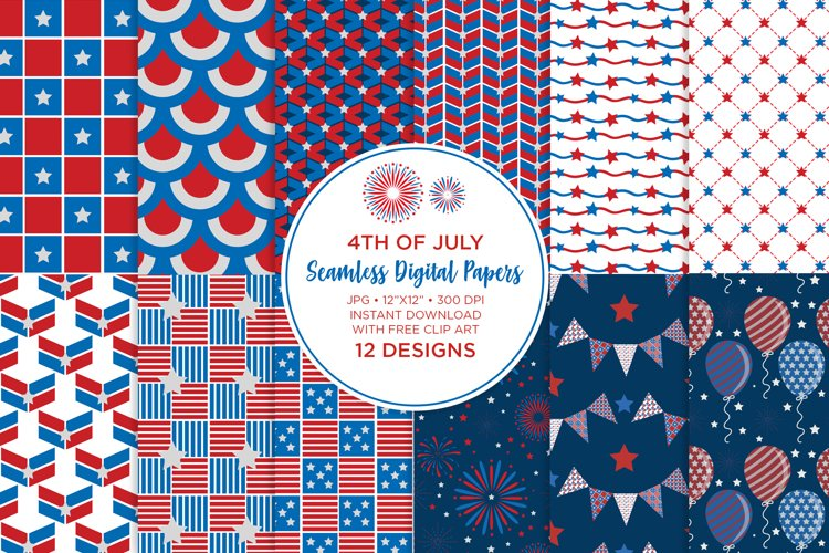 4th of July Seamless Digital Papers