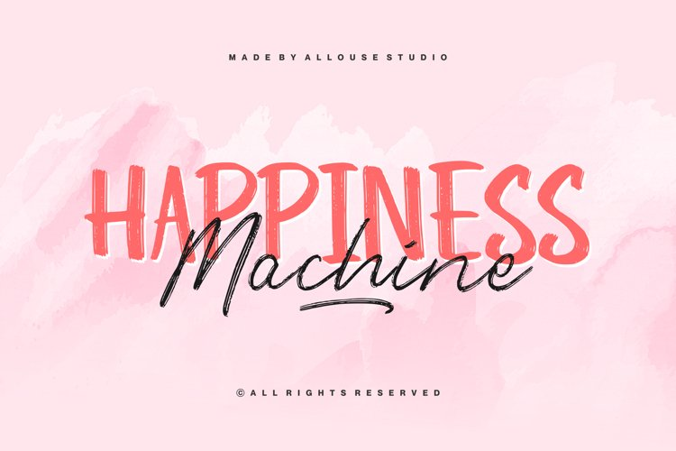 Web Font - Happiness Machine - Font Duo example image 1