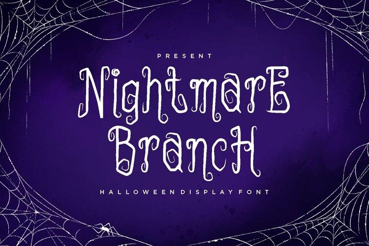 NIGHTMAREBRANCH Font example image 1