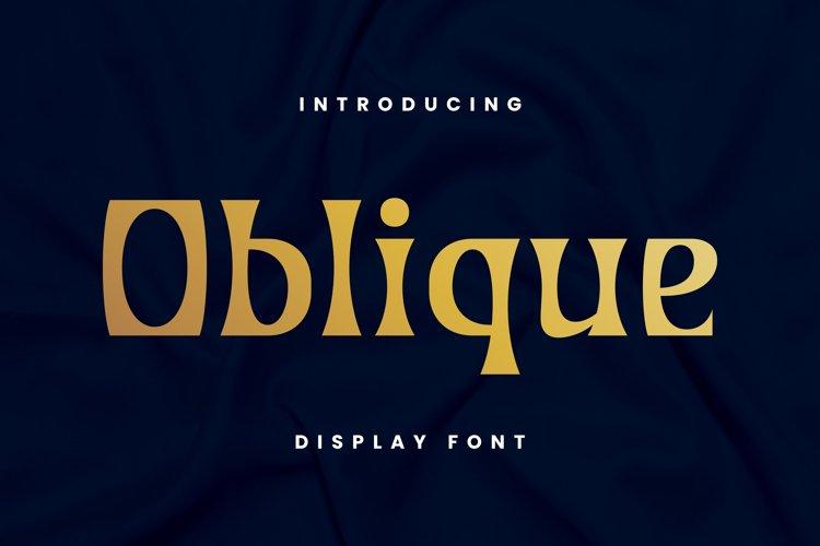 Oblique Font example image 1