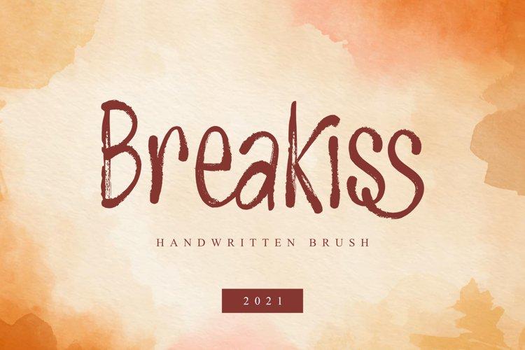 Breakiss - Handwritten Brush example image 1
