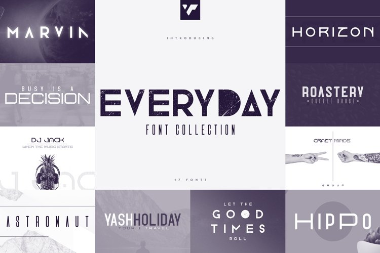 Everyday Font Collection - 17 fonts example image 1