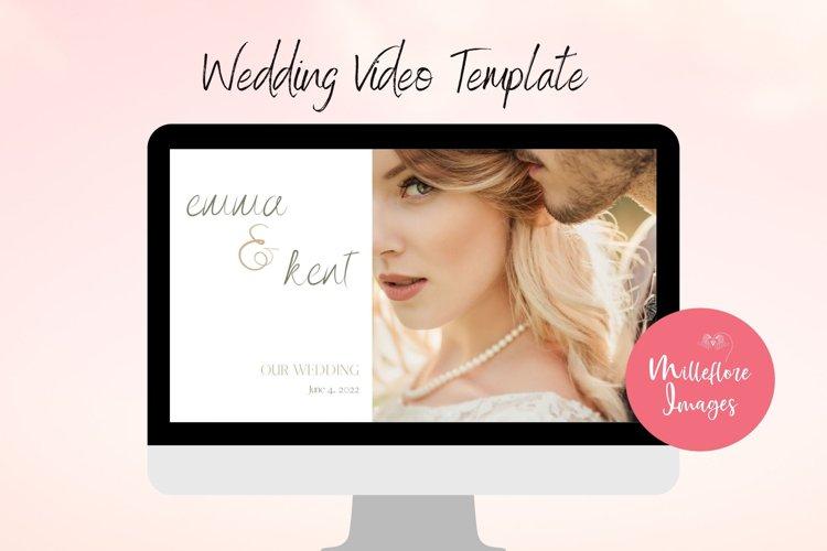 Wedding Video. Canva custom template. Photobook photo album.