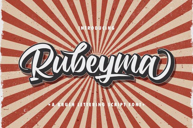 Rubeyma - Bold Script Font example image 1