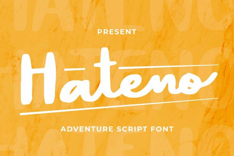 Hateno Font example image 1