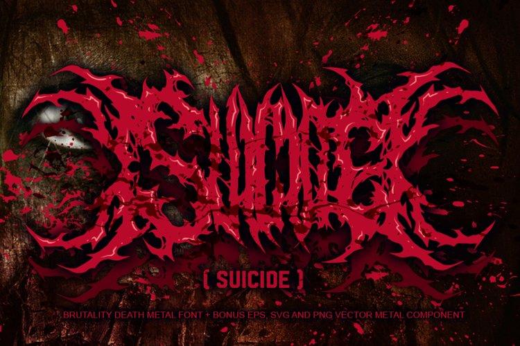 SUICIDE brutal death metal font #2 example image 1