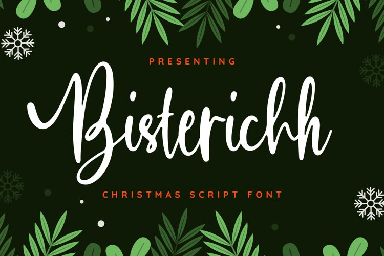 Bisterisch Font example image 1