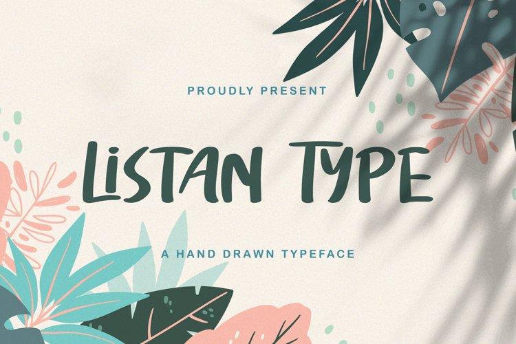 Listan Type - Playful Display Font example image 1