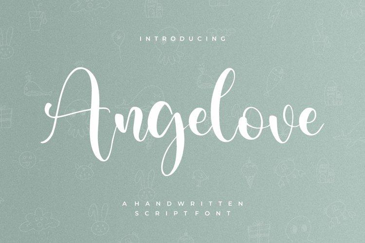 Angelove - Handwritten Script Font example image 1