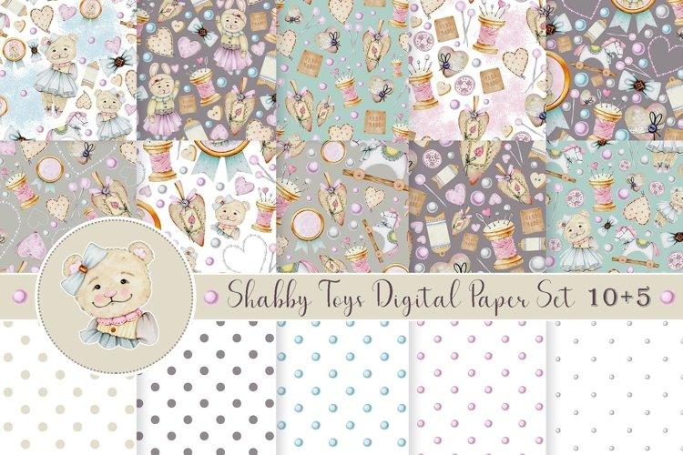 Shabby Toys digital paper set