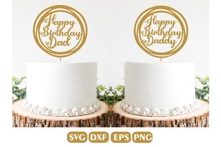 Happy Birthday Cake topper SVG Bundle, Birthday Cake Topper