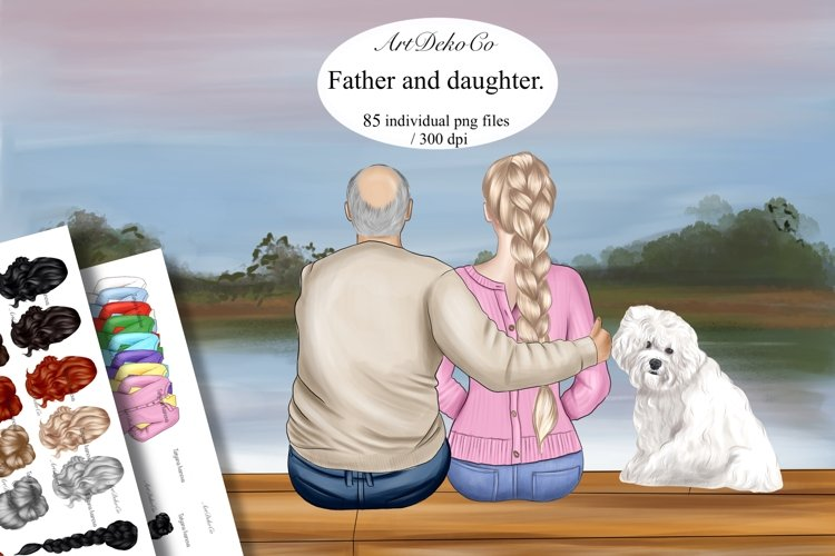 Father and daughter clipart: GRANDFATHER CLIPART