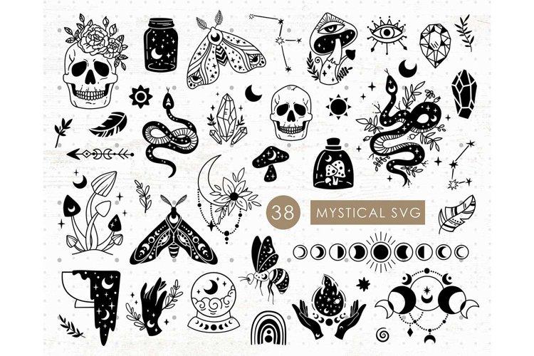 Mystical witchy SVG bundle, Halloween magic SVG & PNG