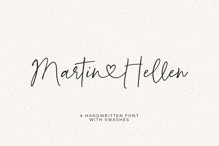 Martin&Hellen / font with swashes
