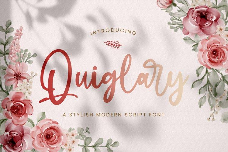 Quiglary - Handwritten Font example image 1